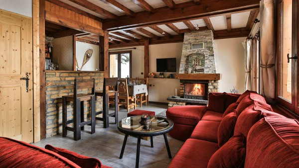 Living Area, Chalet St Moritz - Ski Chalet in La Plagne, France