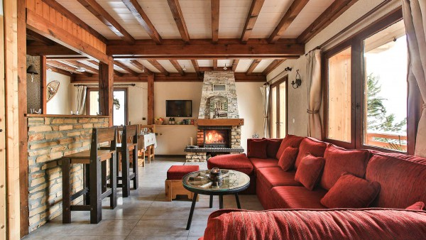 Living and Dining Area, Chalet St Moritz - Ski Chalet in La Plagne, France