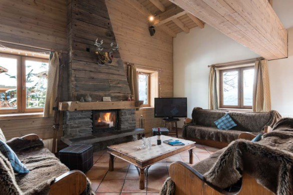 Living in chalet Premiere Neige - ski chalet in Val d'Isere, France