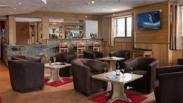 Living area in the Ski Lodge Aigle, Tignes, France