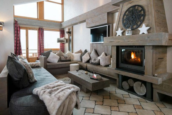 Living area in Chalet Annapurna I, Tignes