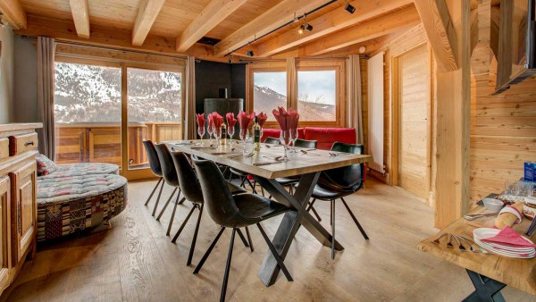 Dining Area and Lounge - Chalet Aline, Meribel