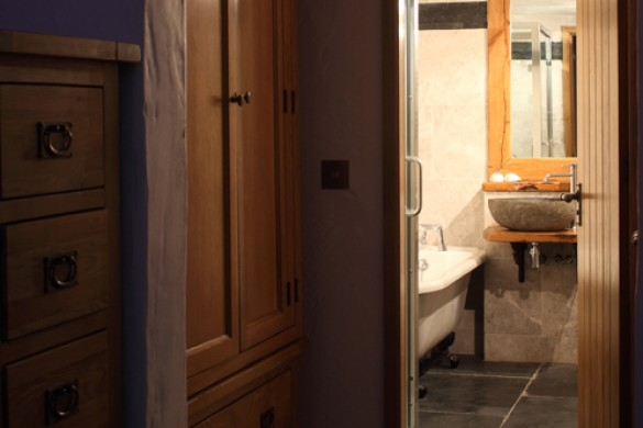 Storage space and bathroom - Chalet Madeleine, Val d'Isere, France