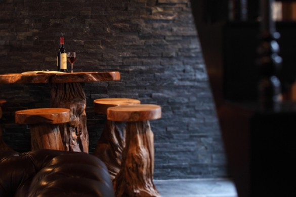 Wooden Stools - Chalet Madeleine, Val d'Isere, France