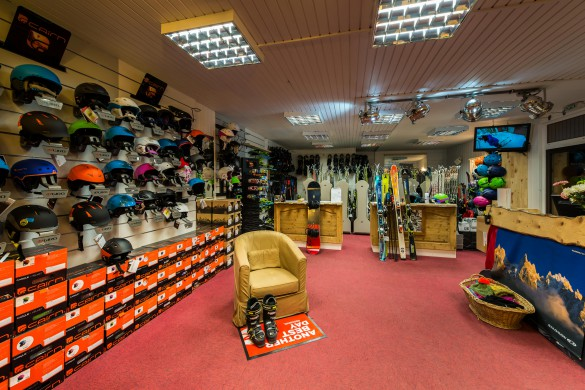 Ski hire shop in Val 2400 building, Val Thorens, France