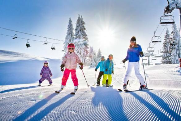 Morzine Ski Resort, France, Family Ski Day