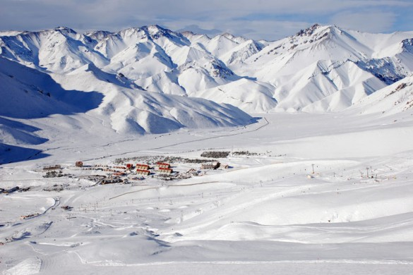 Deep snow at Las Lenas Ski Resort, Argentina