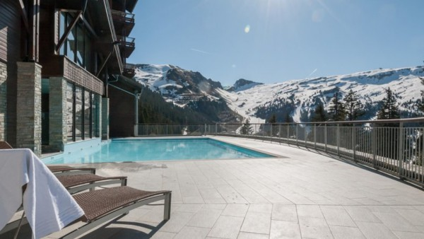 Outdoor Swimming Pool, Residence Les Terraces d'Eos, Flaine, France