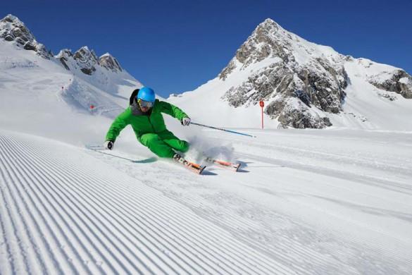 Piste Skiing, St Anton am Arlberg, Austria