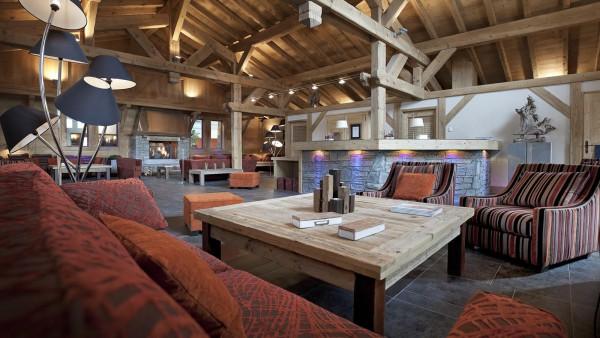 Public lounge in CGH Les Chalets de Jouvence