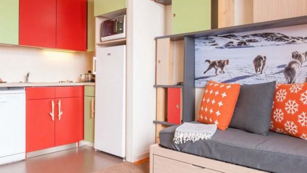 Kitchen Area, Residence Electra, Avoriaz, France