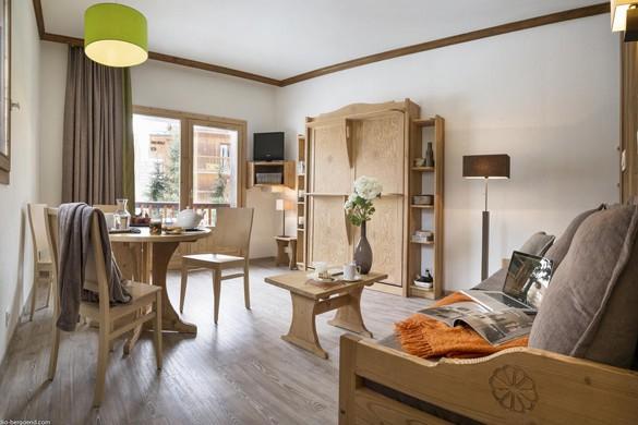 Residence Les Chalets du Solaise living room, Val D'Isere