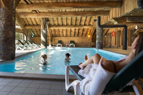 Swimming pool in Les Fermes de Meribel - ski chalet in Meribel, France