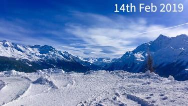 ski conditions in La Rosiere