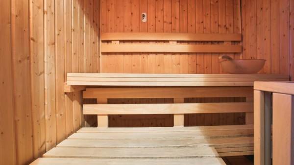 Sauna in Chalet Panoramique - Ski Chalet in La Plagne, France