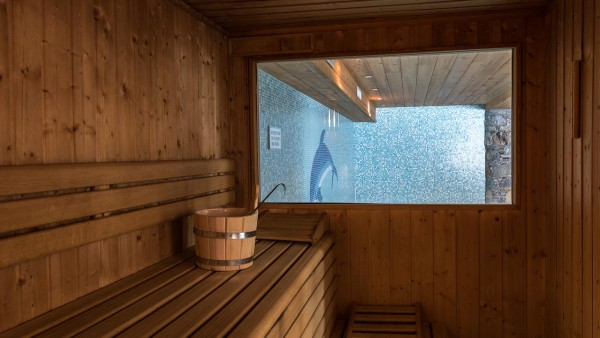Sauna in the Ski Lodge Aigle, Tignes, France