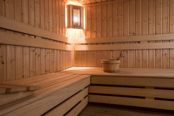 Sauna in Chalet Pascale - ski chalet in Les Arcs - Peisey, France