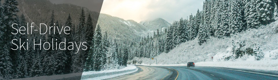 Self Drive Ski Holidays 2018-2019 - Open road with snow lined trees
