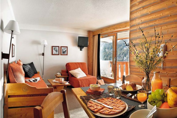 Living room in Sentiers du Tueda - apartment in Meribel, France