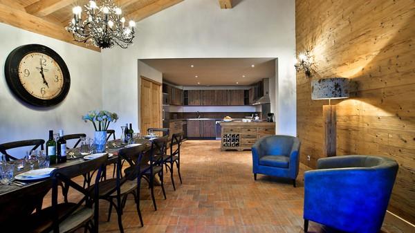 Dining area, Chalet Silene, La Plagne, France
