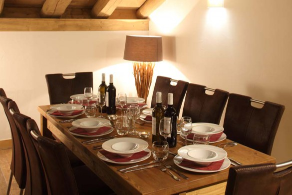 Dining Room In Chalet Annina - Ski Chalet In Tignes, France