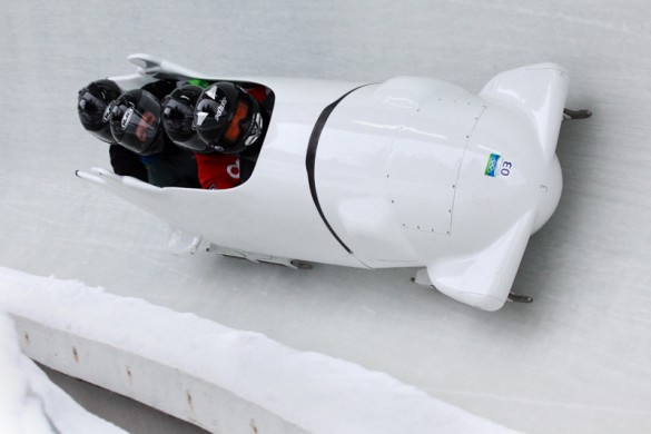 Bobsleigh in Whistler skii resort