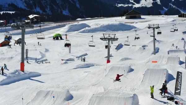 Avoriaz, France, Snowpark Jumps and Rails