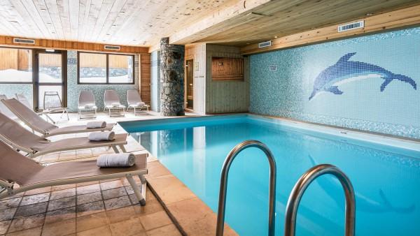 Swimming pool in the Ski Lodge Aigle, Tignes, France