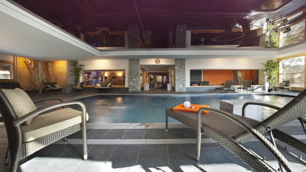 Swimming pool in CGH Les Chalets de Jouvence