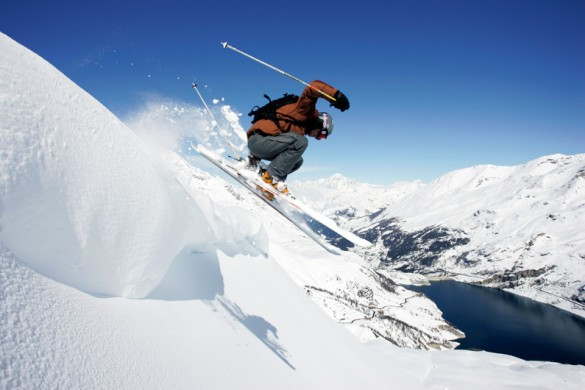 Extreme skiing on a ski holiday in Tignes