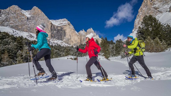 Val di Fassa skiers and mountains - ©Federico Modica