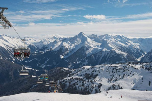 View from Chair Lift, Photo Mayrhofen Austria