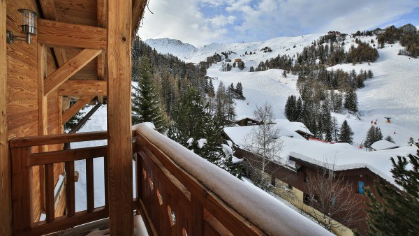 View from Chalet St Moritz - Ski Chalet in La Plagne, France