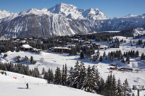 View of town, Courchevel France; David Andre