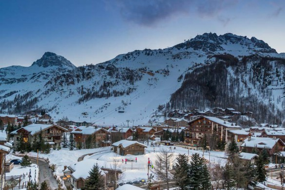 village, Val d'Isere, France