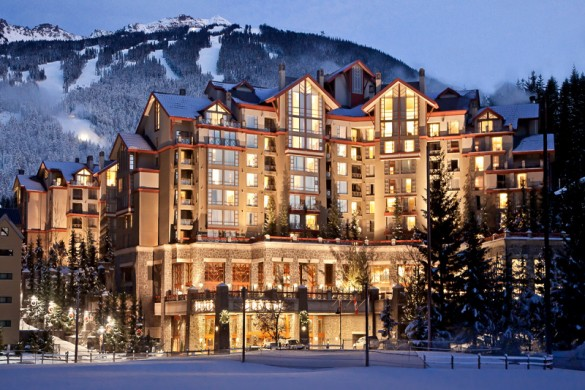 Hotel Westin Resort and Spa, ext night, Whistler