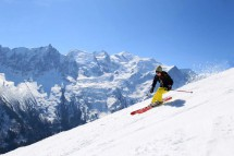 Skier in Chamonix - Ski Resort in France