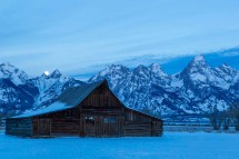 Barn and Tetons, Jackson Hole, USA