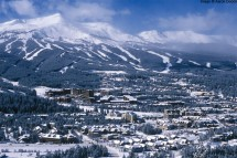 Breckenridge town and mountains