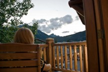 Brewster's Mountain Lodge, Banff, Canada, Balcony