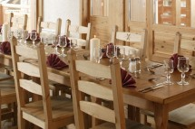 Chalet Annapurna II dining close up, Tignes