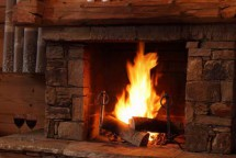 Fire in Chalet Lapin de Neige - Ski Chalet in Courchevel, France