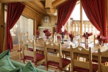 Chalet Tolima dining, Val D'Isere