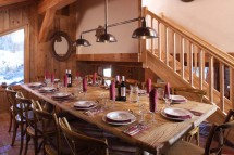 Dining Room in Chalet Klosters - Ski Chalet in La Plagne, France