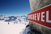 Courchevel sign, France