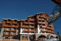 Sunny Exterior in Village Montana - Self-catered ski apartment - Val Thorens, France
