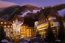 Exterior of the Vail Marriott Mountain Resort - Ski Hotel in Vail, USA