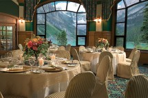 Fairmont Chateau, dining view, Lake Louise
