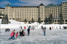 Fairmont Chateau, ice rink, Lake Louise