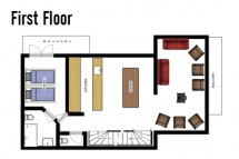 Floor plan of Chalet Jacques, first floor - ski chalet in Courchevel, France